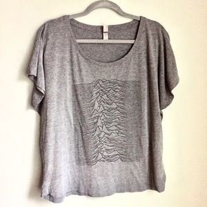 Joy Division | T-shirt Soft Heather Gray Cropped